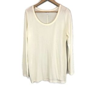 Pea in the Pod Maternity Ivory Long Sleeve T-Shirt